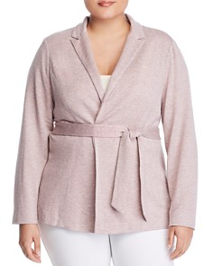 B Collection by Bobeau Curvy - Baron Tie-Waist Knit Jacket