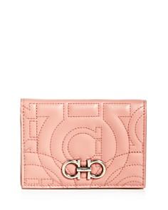 Salvatore Ferragamo - Gancini-Quilted Leather Bi-Fold Wallet