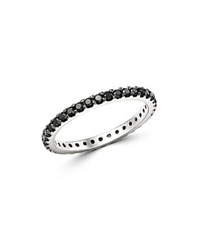 Bloomingdale's - Black Diamond Eternity Stacking Band in 14K White Gold, 0.50 ct. t.w. - 100% Exclusive