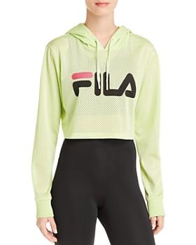 84dadecedc52 FILA - Noemi Mesh Cropped Hooded Sweatshirt ...