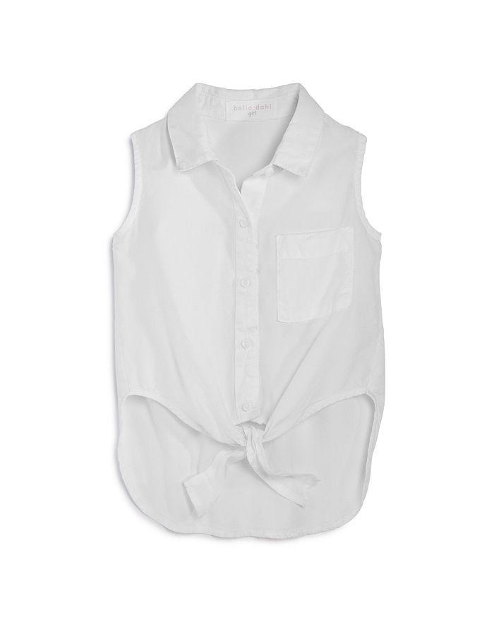 Bella Dahl - Girls' Sleeveless Tie-Front Shirt - Little Kid, Big Kid