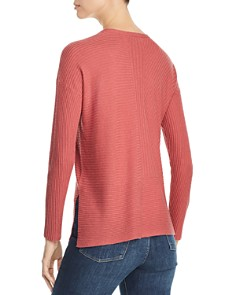 Eileen Fisher Petites - Directional-Rib Sweater