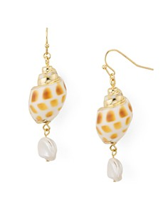AQUA - Shell & Cultured Freshwater Pearl Drop Earrings - 100% Exclusive