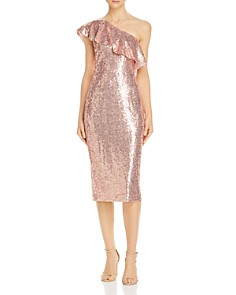 Rachel Zoe - Elizabeth Sequined One-Shoulder Dress - 100% Exclusive