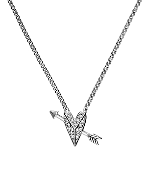 Karl Lagerfeld Paris Hearts & Arrows Small Pendant Necklace, 16-Jewelry & Accessories