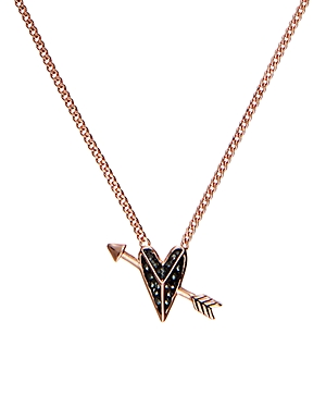Karl Lagerfeld Paris Hearts & Arrows Small Pendant Necklace, 16