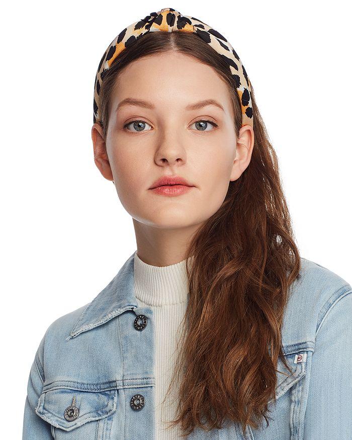 Lele Sadoughi - Leopard Print Knot Headband