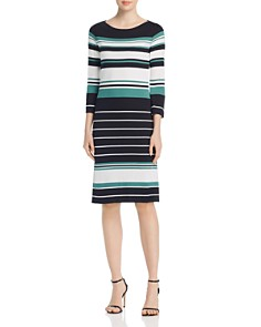 BOSS - Elsara Multi-Stripe Sweater Dress