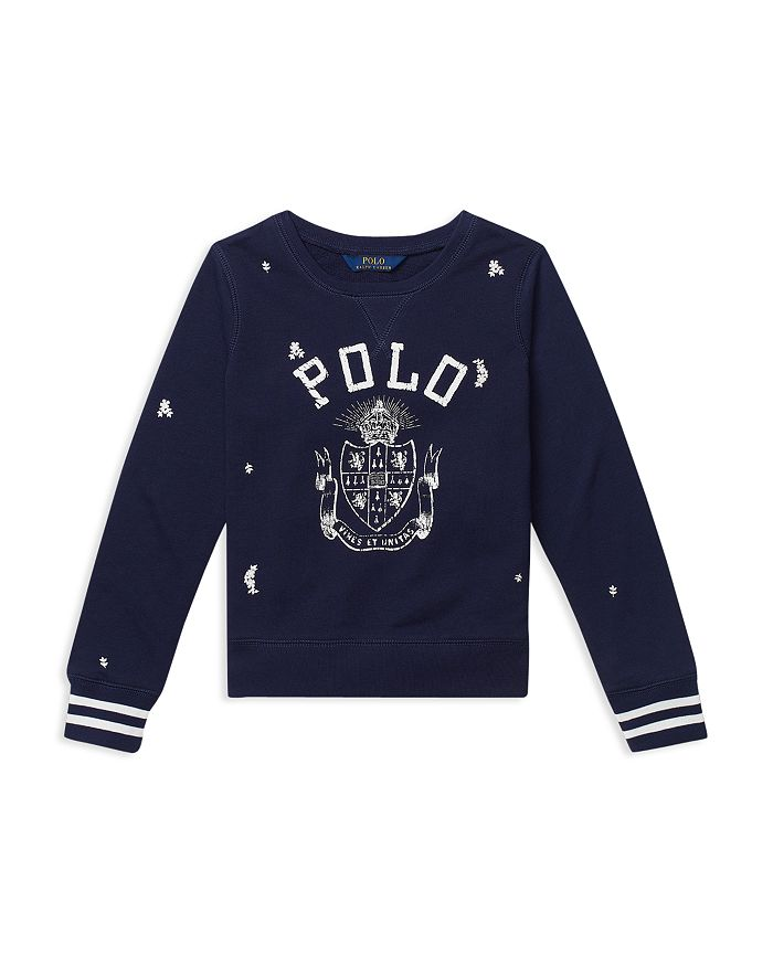 db74efc51 Ralph Lauren Girls  Polo Atlantic Terry Sweatshirt - Big Kid ...