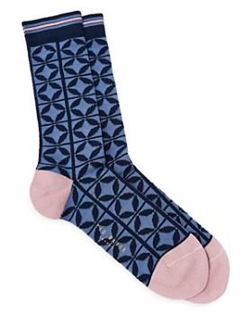 c35386e01e5 Ted Baker - Papaver Tile Pattern Socks ...