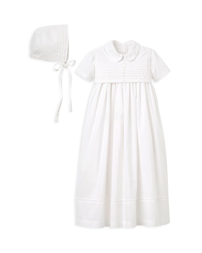 Elegant Baby - Boys' Christening Gown & Bonnet Set - Baby