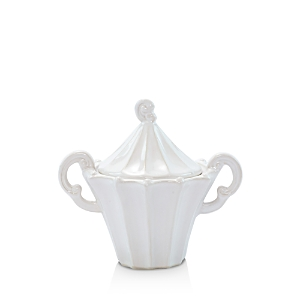 Vietri Incanto Stone White Stripe Sugar Bowl-Home
