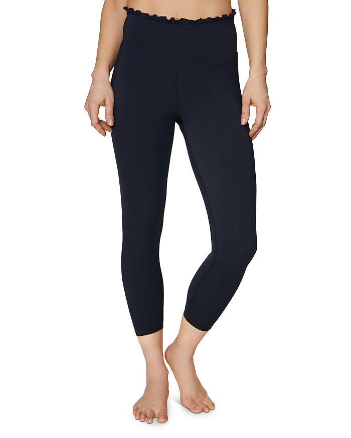 Betsey Johnson PLEATED-TRIM LEGGINGS