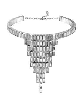 "Atelier Swarovski - Core Collection Fluid Azzurro Fringe Necklace, 10"""