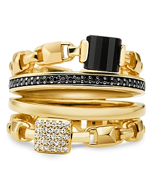 Michael Kors Mercer Four Layered Ring in 14K Gold-Plated Sterling Silver