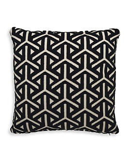 "Mitchell Gold Bob Williams - Reave Ebony Throw Pillow, 21"" x 21"""