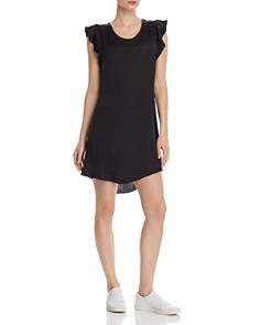 CHASER - Silk Flutter-Sleeve High/Low Dress