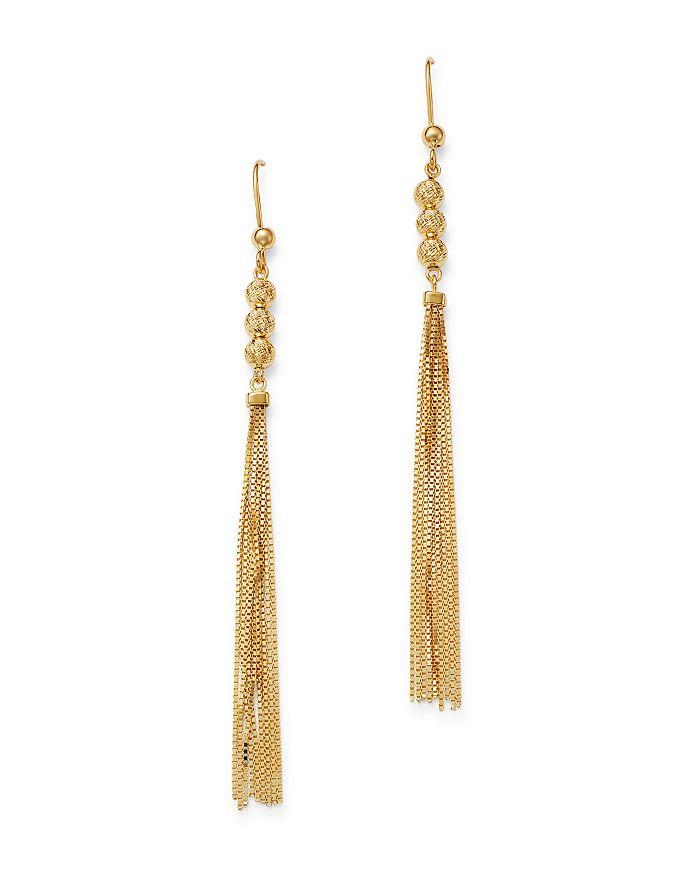 Bloomingdale's - Tassel Drop Earrings in 14K Yellow Gold - 100% Exclusive