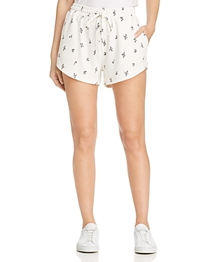 B Collection By Bobeau Knits B COLLECTION BY BOBEAU FLORAL-PRINT KNIT SHORTS
