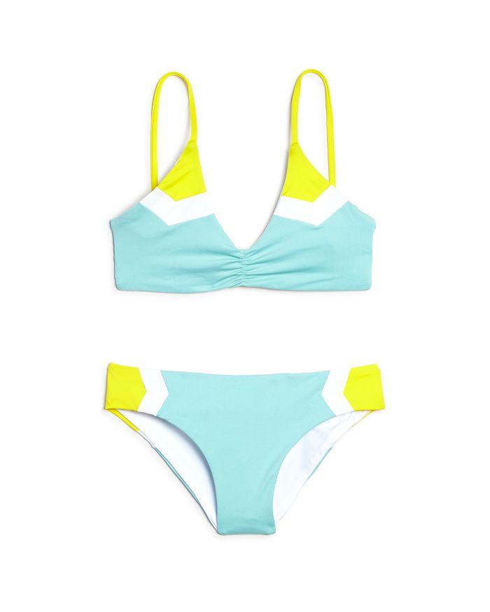 L*Space - Girls' Haley Color-Block Two-Piece Swimsuit - Little Kid, Big Kid