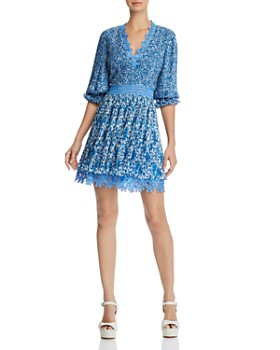 Alice and Olivia - Jonna Pleated Floral Mini Dress