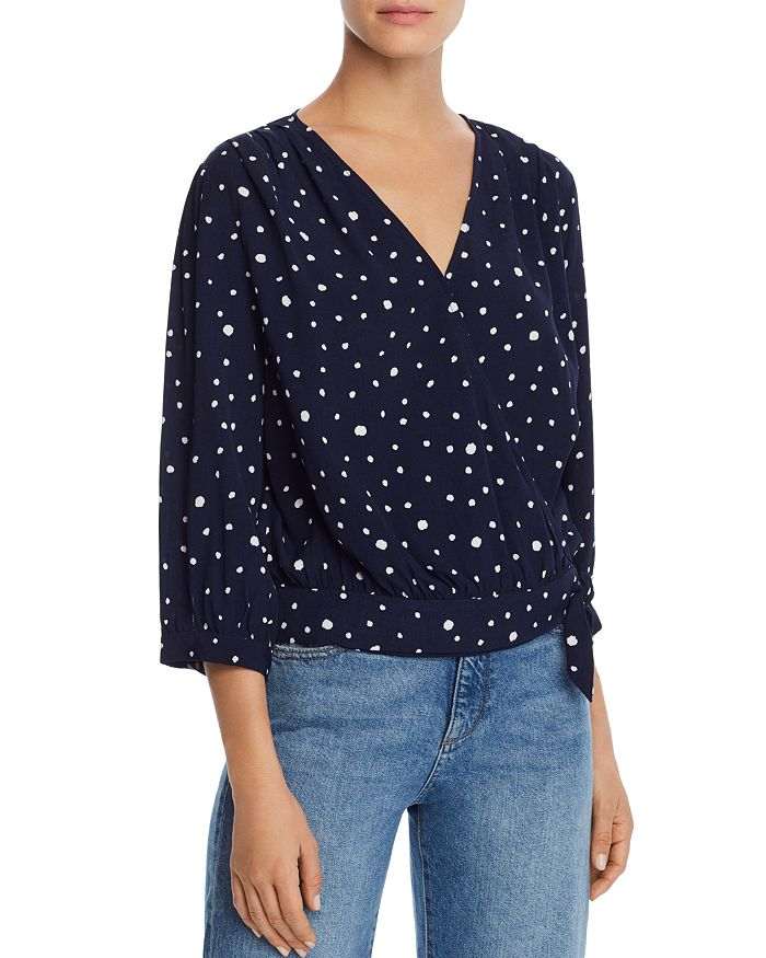 AQUA - Polka Dot Wrap Top - 100% Exclusive