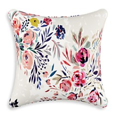 "Sparrow & Wren - Bianca Floral Multi Down Pillow, 20"" x 20"""