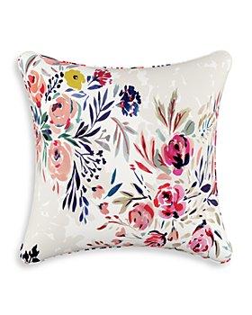 "Sparrow & Wren - Bianca Floral Multi Down Pillow, 20"" x 20"""