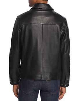 Cole Haan - Leather Zip-Front Jacket