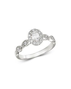 Bloomingdale's - Oval Diamond Engagement Ring in 14K White Gold, 0.50 ct. t.w. - 100% Exclusive
