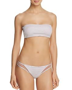 Tori Praver - Royale Striped Bandeau Bikini Top