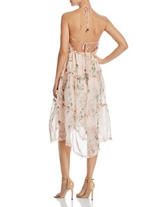 AQUA - Tiered Floral Halter Dress - 100% Exclusive