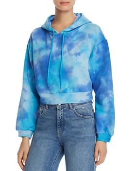 M.N.I. - Tie-Dye Cropped Hooded Sweatshirt