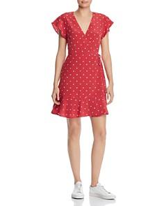 Rails - Leanne Polka Dot Silk Wrap Dress