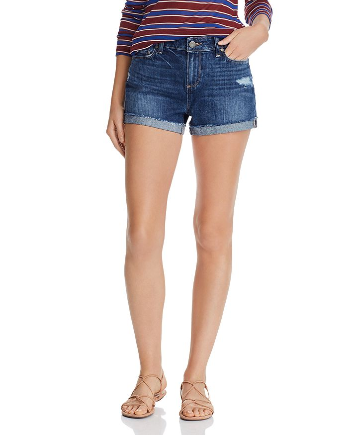 PAIGE - Jimmy Jimmy Cuffed Denim Shorts in Lira Destructed - 100% Exclusive