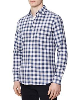 REISS - Spector Brushed Gingham Regular Fit Button-Down Shirt
