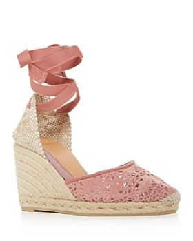 a867db7a7b7 Castañer - Women s Carina Ankle-Tie Espadrille Wedge Sandals ...