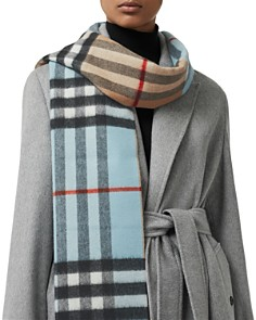 Burberry - Color-block Vintage Check Cashmere Scarf