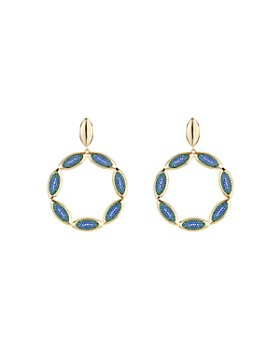 Atelier Swarovski - by Themis Zouganeli Evil Eye Hoop Earrings