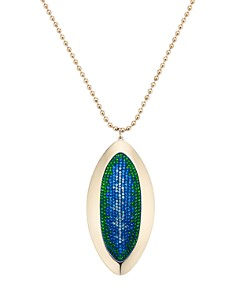 Atelier Swarovski - by Themis Zouganeli Evil Eye Long Pendant Necklace, 19""