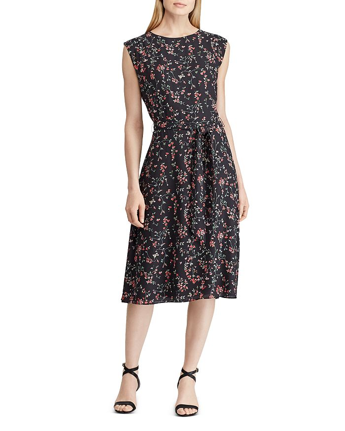 Ralph Lauren - Floral-Print Fit-and-Flare Dress