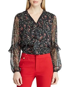64b434ada1cce Ralph Lauren - Floral Print Ruffle Top ...