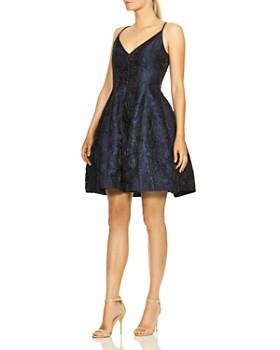 3cdb2762e011 HALSTON HERITAGE - Rose Jacquard Dress HALSTON HERITAGE - Rose Jacquard  Dress