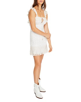 Free People - Sleeveless Crochet-Lace Mini Dress