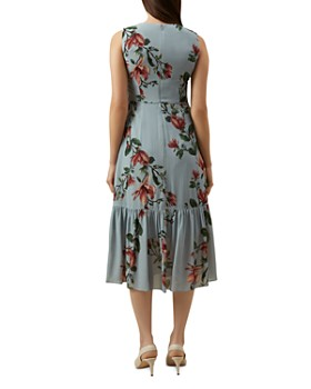 HOBBS LONDON - Hallie Flounced Floral Midi Dress