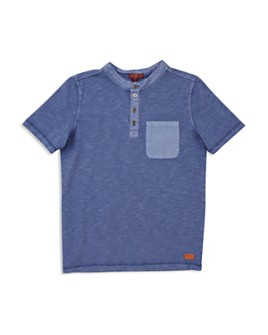 7 For All Mankind - Boys' Pocket Henley Tee - Big Kid
