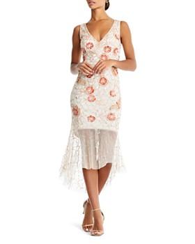 Aidan Mattox - Embellished Illusion Dress