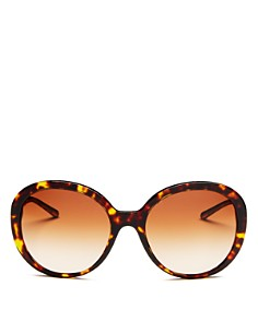 Burberry - Women's Check Round Sunglasses, 57mm