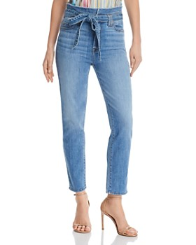 0be8dcf1741 7 For All Mankind - Roxanne Paper-Bag-Waist Skinny Jeans in Bright Bluejay  ...