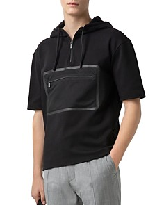 HUGO - Dolet Short-Sleeve Hooded Half-Zip Sweatshirt